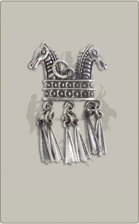 Klapperanhänger aus Silber
