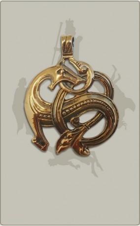 Wikinger-Drachenanhänger