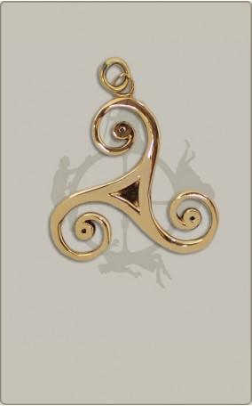 Keltische Triskele aus Bronze