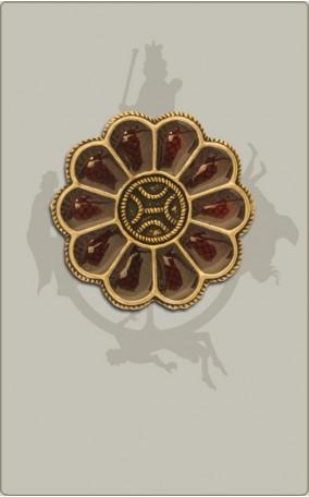 Rosettenfibel mit Cloisonne