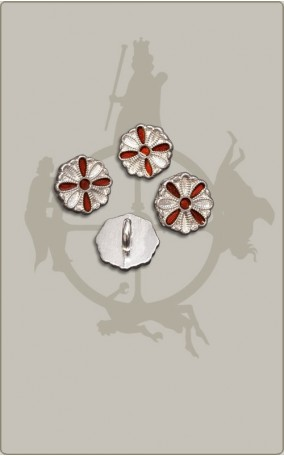 Rosettenknopf mit Kreuz