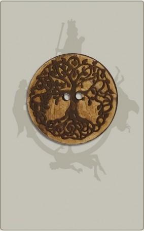 Knopf mit Weltenbaum - 38