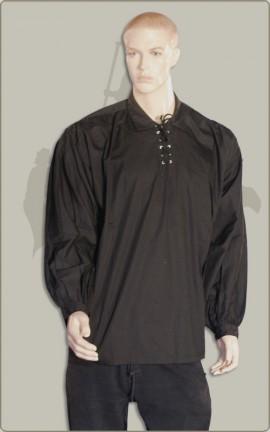 Schlichtes Baumwollhemd in schwarz oder weiß