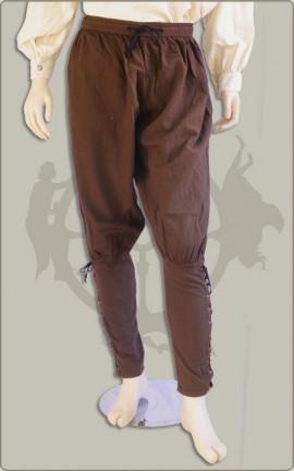 Weite Wikingerhose mit hohem Schaft
