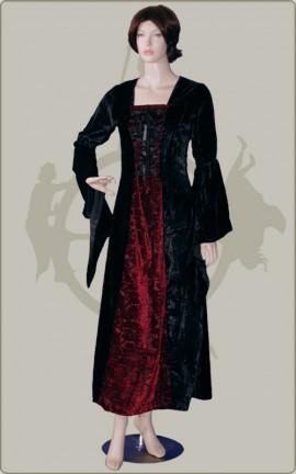 Kleid mit Ausbrennsamt