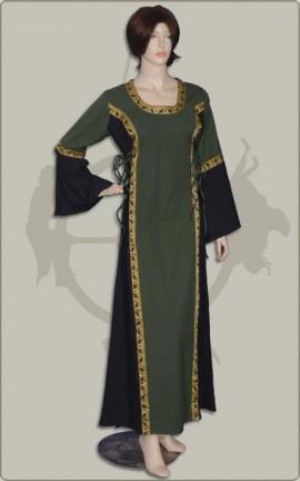 Edles Kleid mit Borte und Rückenschnürung