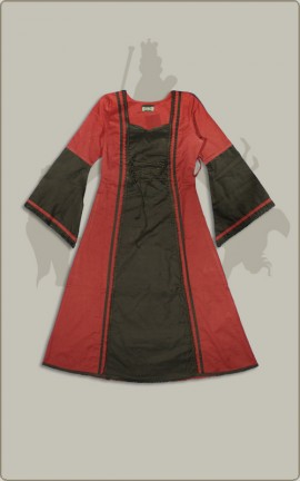 Rot-Schwarzes Kinderkleid