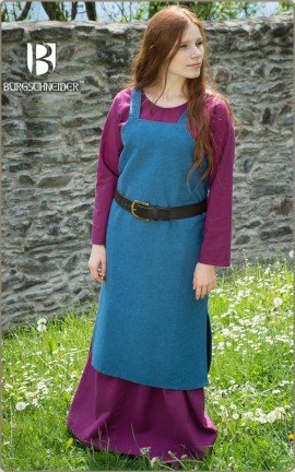 Mittelalterkleid Wikingerkleid Frida - meerblau