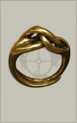 Knotenring aus Bronze - Groß