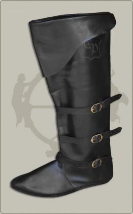 Spätmittelalter Stiefel in schwarz