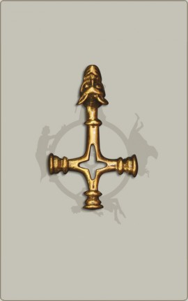 Wolfskreuz in Bronze