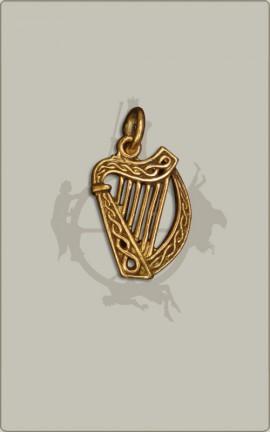 Keltische Harfe aus Bronze - klein