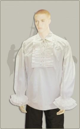 Rüschenhemd in schwarz oder weiß