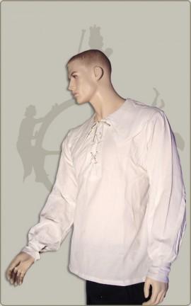 Baumwollhemd mit rundem Kragen