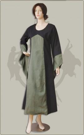 Zweifarbiges Kleid aus Baumwolle