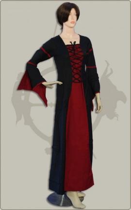 Zweifarbiges Mittelalterkleid