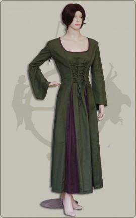 Kleid mit Nestelärmeln