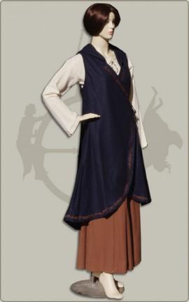 Wickelkleid aus Wolle