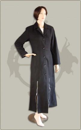 Langer Mantel mit Reißverschlüssen