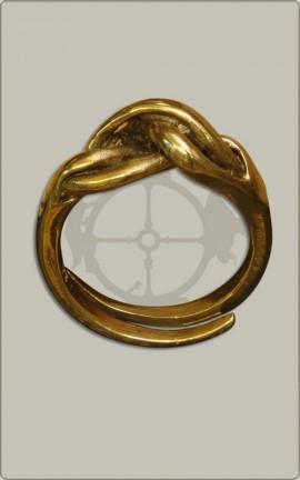 Knotenring aus Bronze - klein