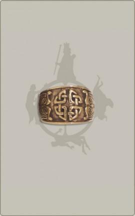 Teutates-Ring aus Bronze, verstellbar, groß