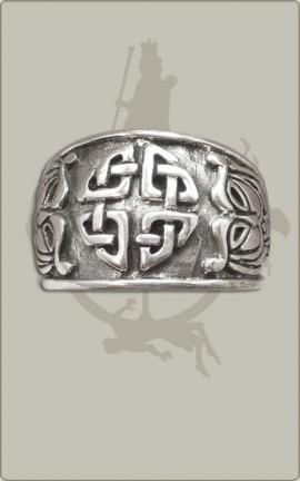 Teutates-Ring aus Silber, verstellbar, klein