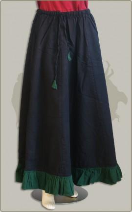 Baumwollrock mit farbigem Volant