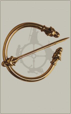 Wikingische Mantelfibel in Bronze