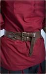 Mittelalter- und LARP Gürtel aus zwei Riemen - braun
